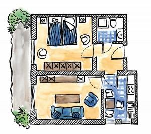 Grundriss der Ferienwohnung 2